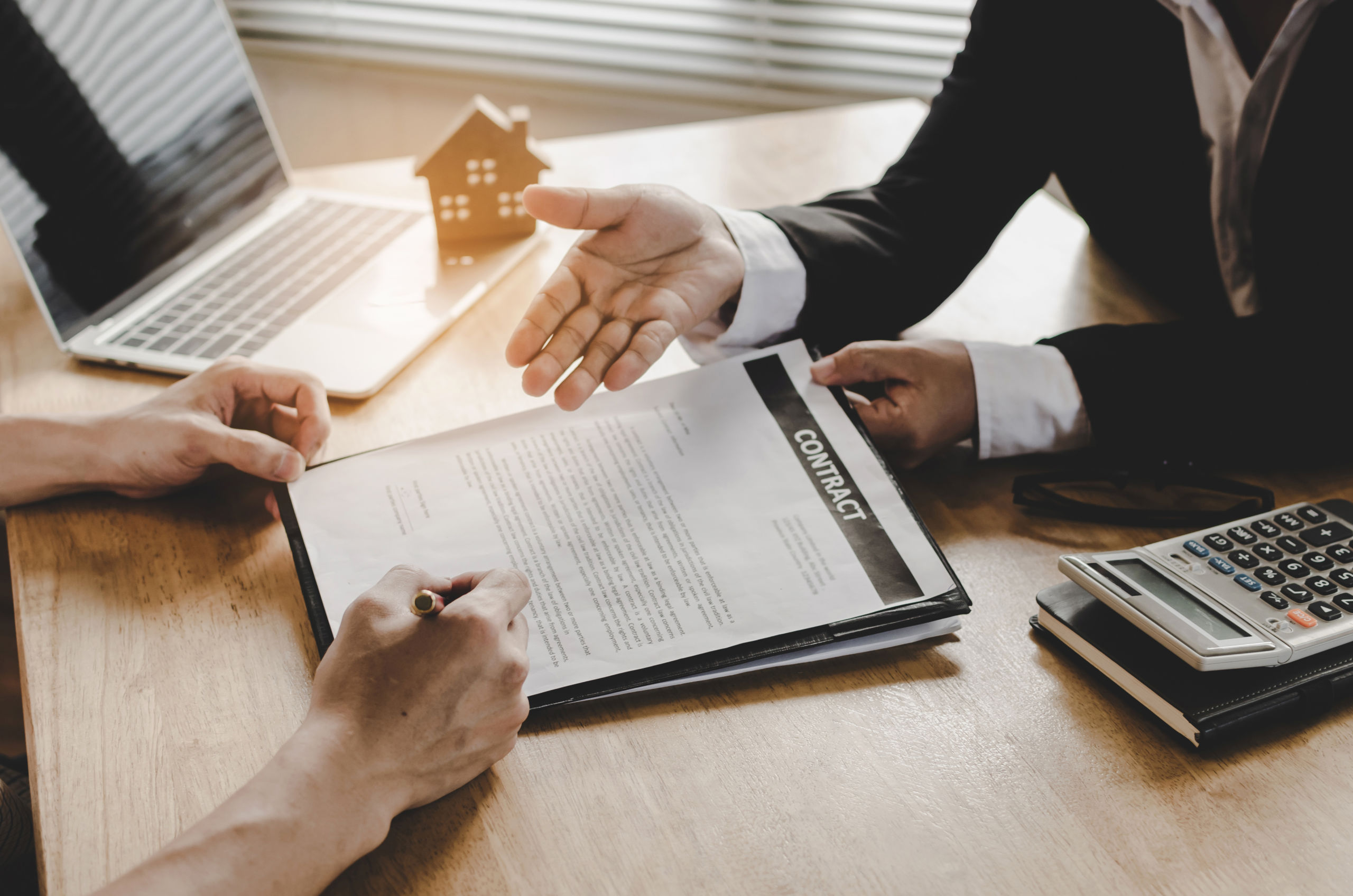 Investor signing a real estate contract